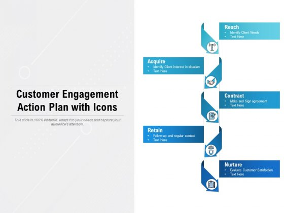 Customer Engagement Action Plan With Icons Ppt PowerPoint Presentation Infographics Good