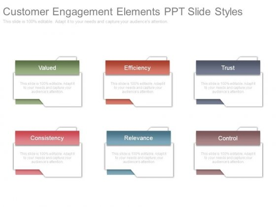Customer Engagement Elements Ppt Slide Styles