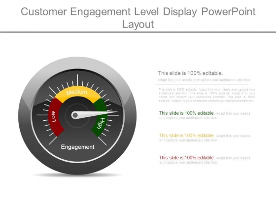 Customer Engagement Level Display Powerpoint Layout