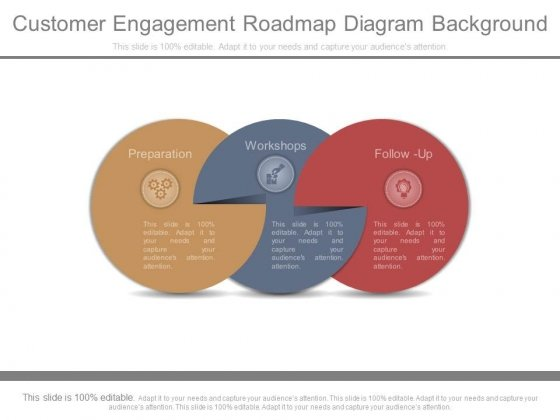 Customer Engagement Roadmap Diagram Background
