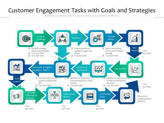 Customer_Engagement_Tasks_With_Goals_And_Strategies_Ppt_PowerPoint_Presentation_File_Information_PDF_Slide_1