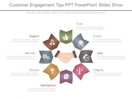 Customer Engagement Tips Ppt Powerpoint Slides Show