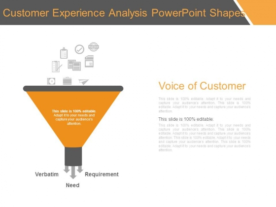 Customer Experience Analysis Powerpoint Shapes