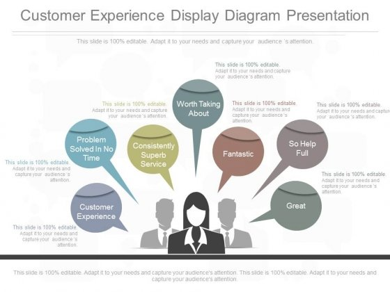 Customer Experience Display Diagram Presentation