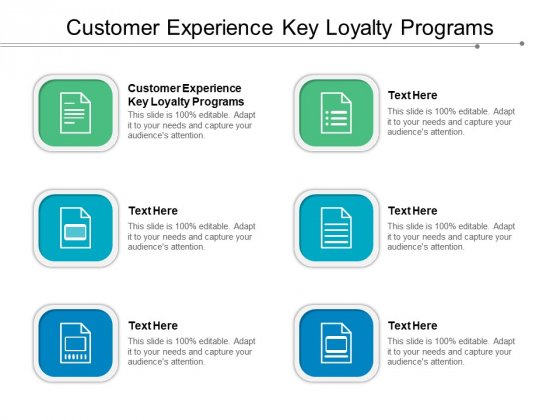 Customer Experience Key Loyalty Programs Ppt PowerPoint Presentation Infographics Themes Cpb