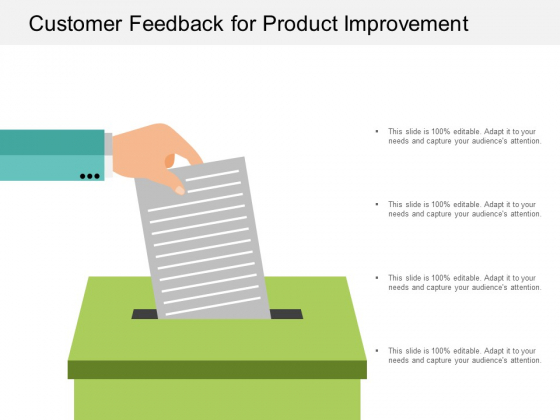 Customer Feedback For Product Improvement Ppt Powerpoint Presentation Layouts Example