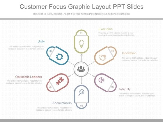 Customer Focus Graphic Layout Ppt Slides