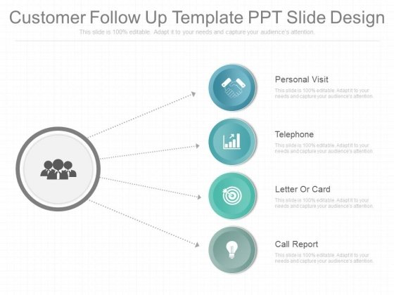 customer follow up template ppt slide design powerpoint templates