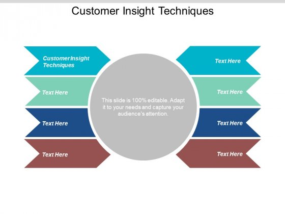 Customer Insight Techniques Ppt PowerPoint Presentation Inspiration Background Cpb