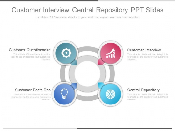 Customer Interview Central Repository Ppt Slides