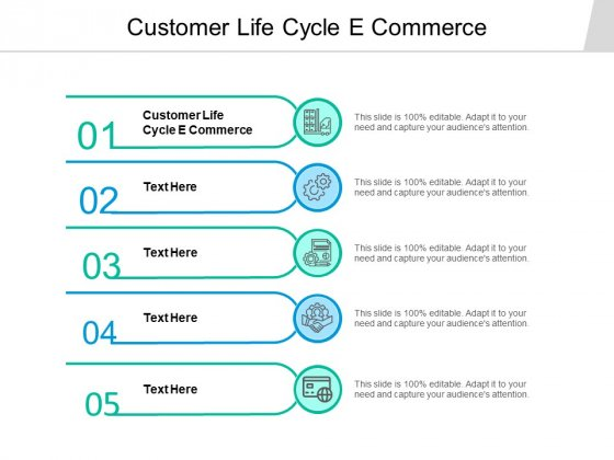 Customer Life Cycle E Commerce Ppt PowerPoint Presentation Infographics Clipart Cpb