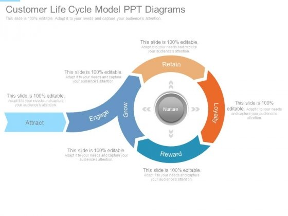 Customer Life Cycle Model Ppt Diagrams