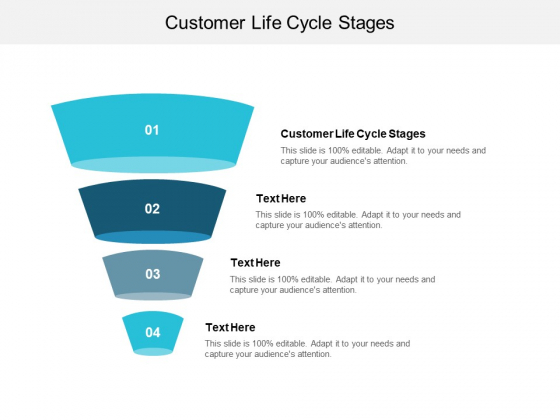 Customer Life Cycle Stages Ppt PowerPoint Presentation Infographics Background Images Cpb