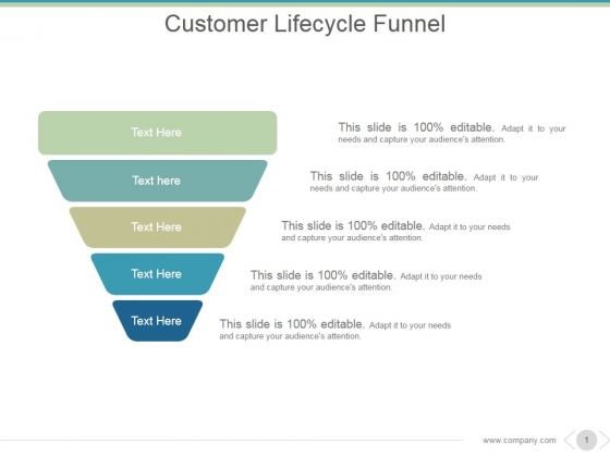 Customer Lifecycle Funnel Ppt PowerPoint Presentation Layout