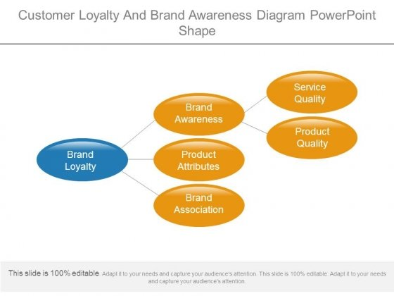 Customer Loyalty And Brand Awareness Diagram Powerpoint Shape