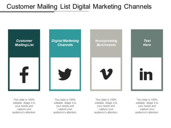 Customer Mailing List Digital Marketing Channels Incorporating