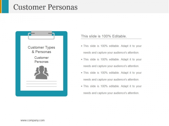 Customer Personas Ppt PowerPoint Presentation Layouts Design Ideas