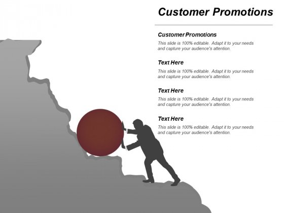 Customer Promotions Ppt Powerpoint Presentation Gallery Demonstration Cpb