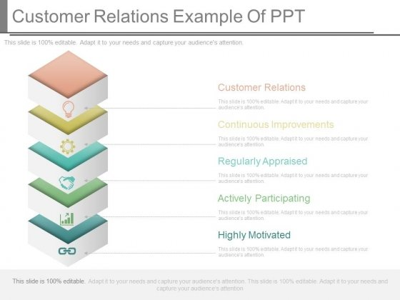 Customer Relations Example Of Ppt
