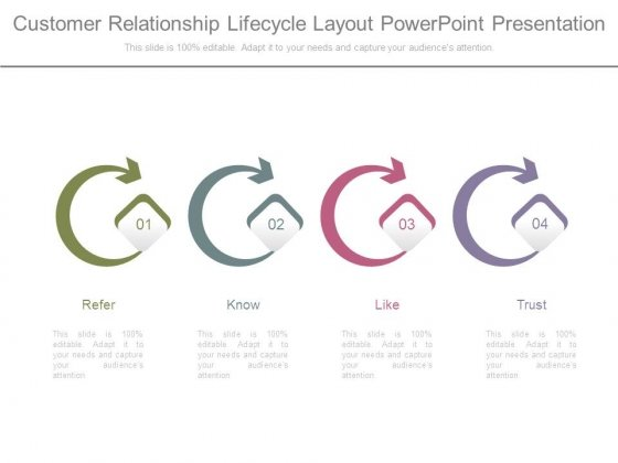 Customer Relationship Lifecycle Layout Powerpoint Presentation