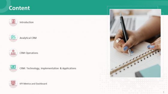 Customer Relationship Management Action Plan Content Elements PDF
