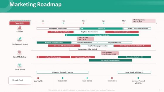Customer Relationship Management Action Plan Marketing Roadmap Background PDF