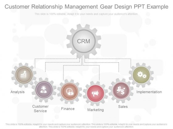 Customer Relationship Management Gear Design Ppt Example
