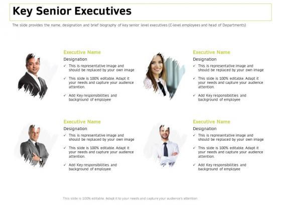 Customer Relationship Management In Freehold Property Key Senior Executives Inspiration PDF