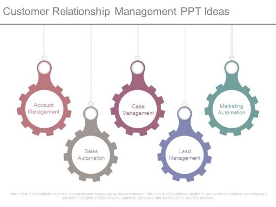 Customer Relationship Management Ppt Ideas