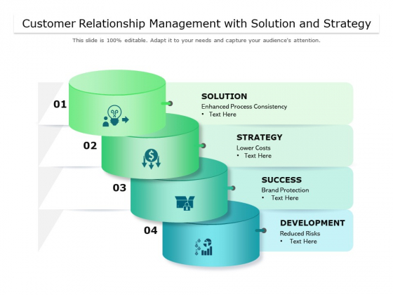 Customer Relationship Management With Solution And Strategy Ppt PowerPoint Presentation Infographics Aids PDF