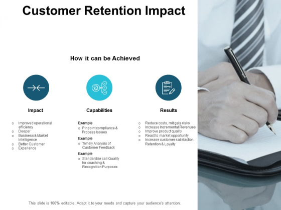 Customer Retention Impact Ppt PowerPoint Presentation Portfolio Show