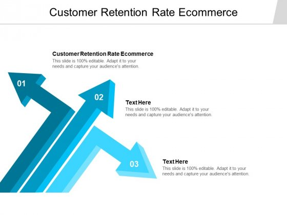 Customer Retention Rate Ecommerce Ppt PowerPoint Presentation Infographics Slide Portrait Cpb