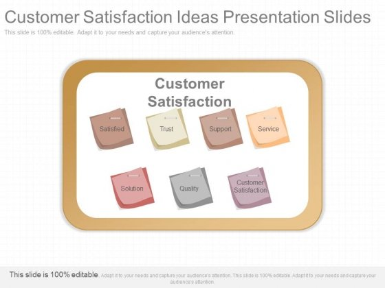 Customer Satisfaction Ideas Presentation Slides