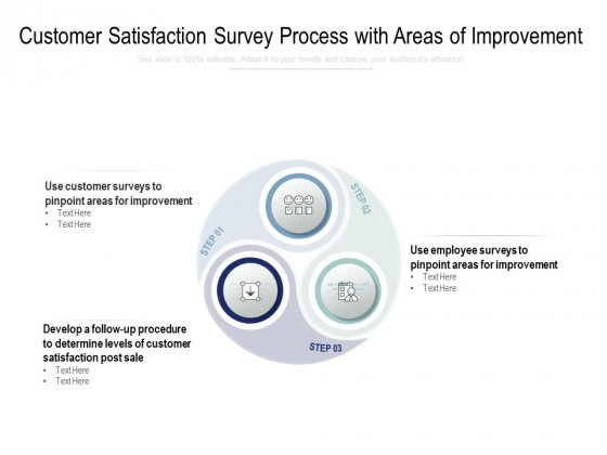 Customer Satisfaction Survey Process With Areas Of Improvement Ppt PowerPoint Presentation Pictures Guidelines