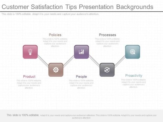 Customer Satisfaction Tips Presentation Backgrounds