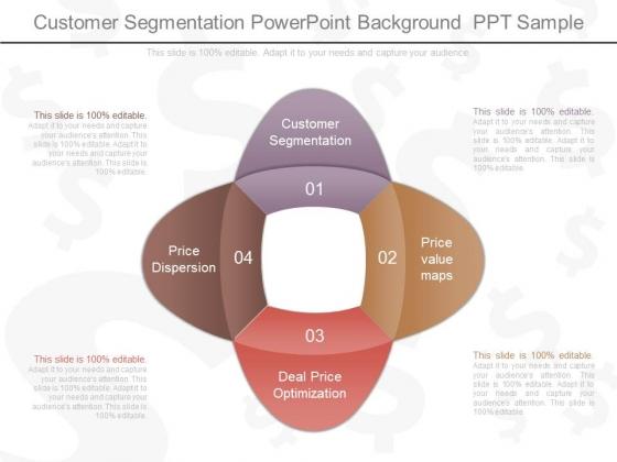 Customer Segmentation Powerpoint Background Ppt Sample