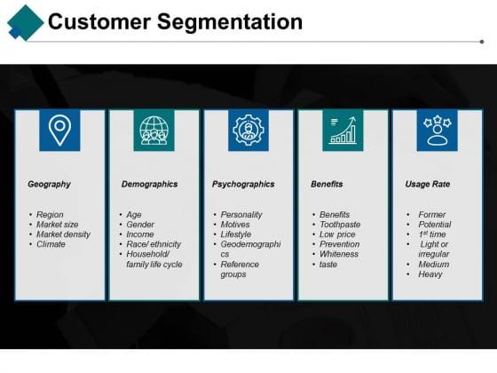 Customer Segmentation Ppt PowerPoint Presentation Slides Shapes