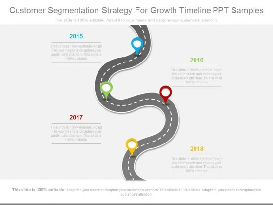 customer segmentation strategy for growth timeline ppt samples