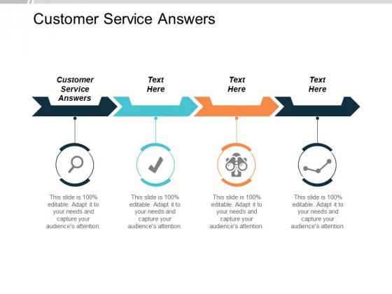 Customer Service Answers Ppt PowerPoint Presentation Portfolio Designs Cpb
