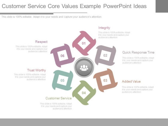 Customer Service Core Values Example Powerpoint Ideas