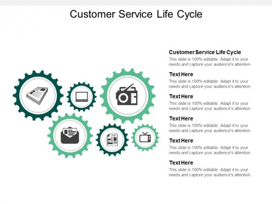 Customer Service Life Cycle Ppt PowerPoint Presentation Professional Gridlines Cpb