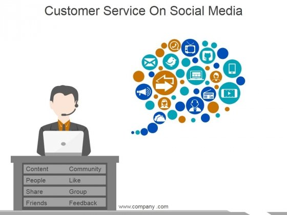 Customer Service On Social Media Ppt PowerPoint Presentation File Layout Ideas