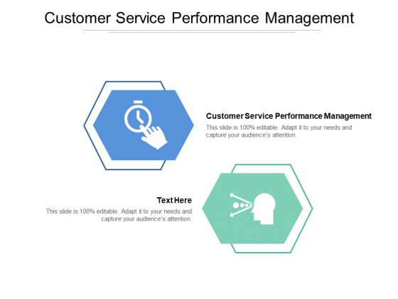 Customer Service Performance Management Ppt PowerPoint Presentation Layouts Example Cpb