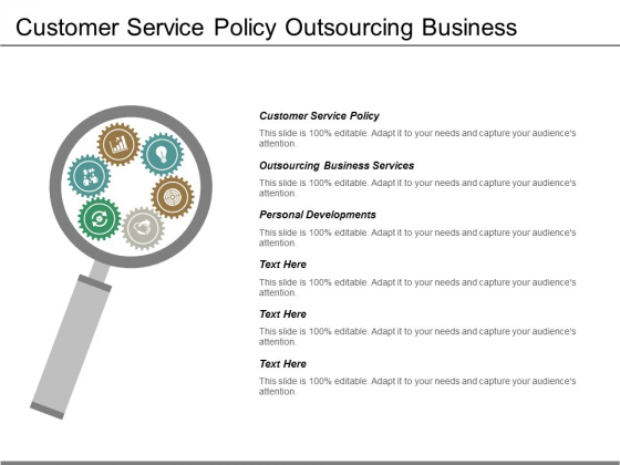 Customer Service Policy Outsourcing Business Services Personal Developments Ppt PowerPoint Presentation Styles Professional