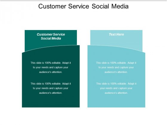 Customer Service Social Media Ppt PowerPoint Presentation Outline Slideshow Cpb