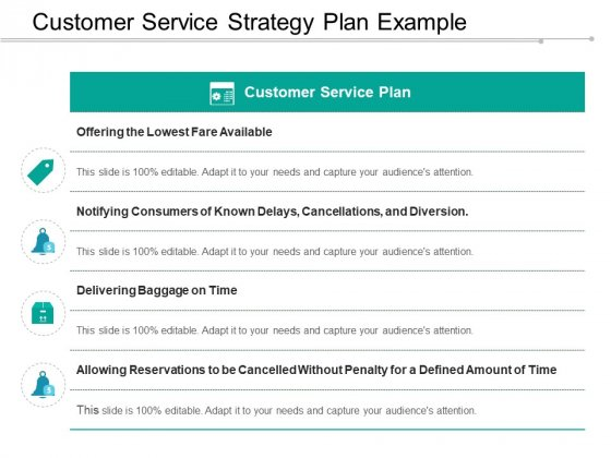 Customer Service Strategy Plan Example Ppt Powerpoint Presentation Portfolio Outline