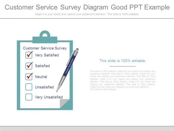 Customer Service Survey Diagram Good Ppt Example