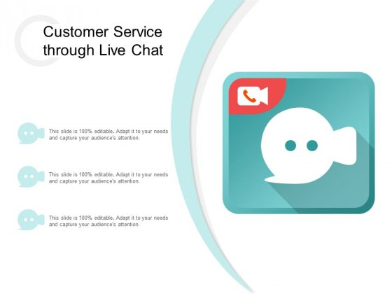Customer Service Through Live Chat Ppt PowerPoint Presentation File Inspiration