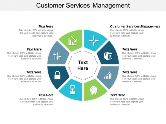 Customer Services Management Ppt PowerPoint Presentation Infographics Designs Download Cpb