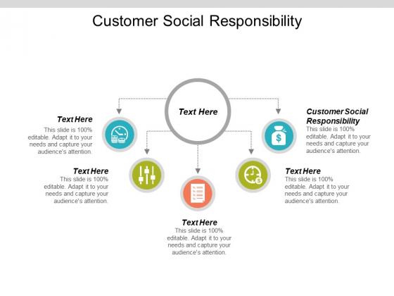 Customer Social Responsibility Ppt PowerPoint Presentation Icon Skills Cpb